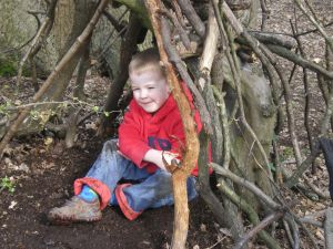 Heard the one about the boy who made a den?