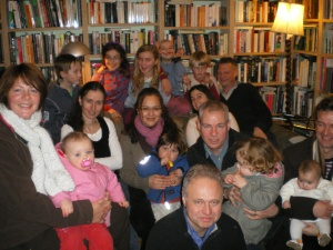 Some of the families in our babysitting circle back at a 2009 get-together.