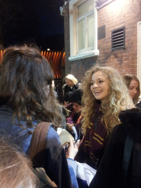 Lola meets the cast after Les Mis - what lovely folk they are, so talented and happy to say hello to their fans inbetween the matinee and the evening show.