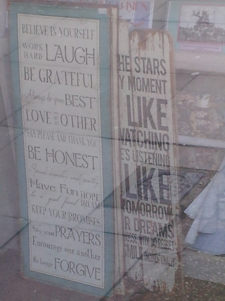 Truisms through the shop window.