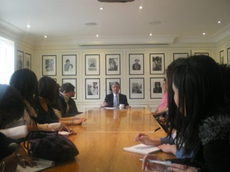 A look-and-see trip to GQ magazine with my class of university students in January 2011.