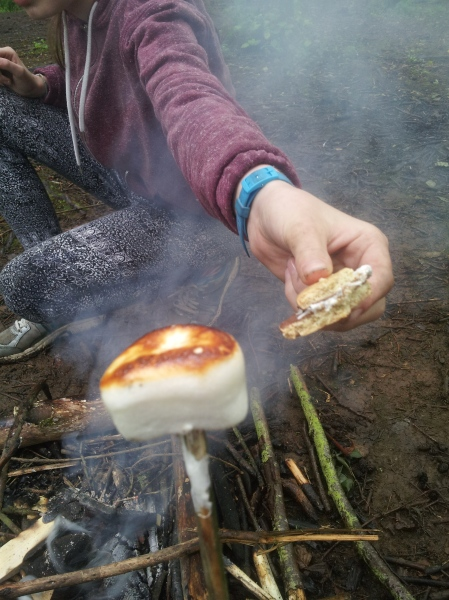 Toasting smores - see how below. (c)homemadekids/nicola baird