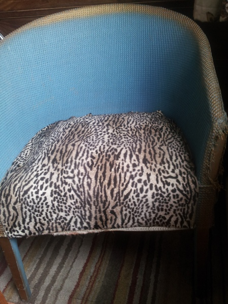 DIY experience: how about re-covering a chair seat using an upholstery stapler? This is a goodbye pic to my chair which I recently passed on to a Freecycler.