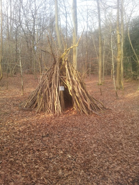 Impressive den in Quarry Woods near Cookham. This area inspired Wind in the Willows writer Kenneth Grahame.